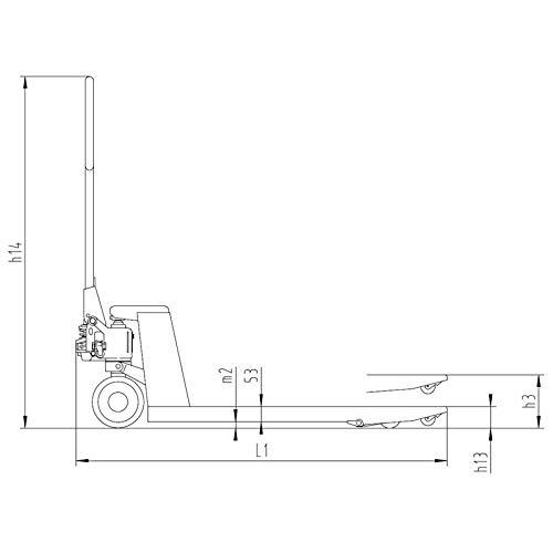 Transpalette 2500 kg 2,5t pour europalettes (1150 mm) - Economy