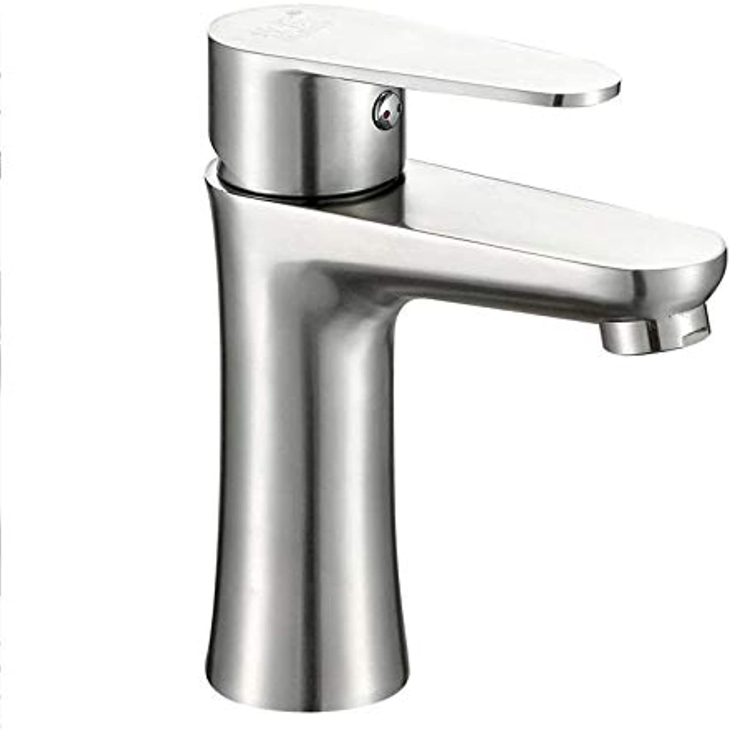Faucet Basin Faucet304 Stainless Steel Basin Faucet Single Hole Hot and Cold Water Bathroom Washbasin Bathroom Counter Basin Faucet