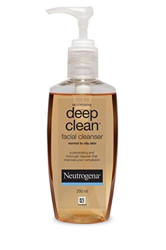 Neutrogena Deep Clean Facial Cleanser For Normal To Oily Skin, 200ml