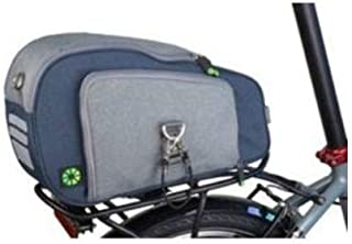 Dahon Carrier Top Bag (Blue/Gray) - Mounts to Rear Rack of Any Folding Bike