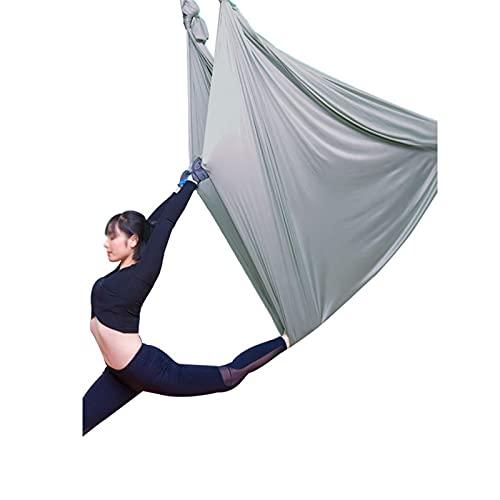 ZCXBHD 5m Hamaca De Yoga Aérea Hogar Yoga Eslinga Microelástica Correa Elástica De Yoga por Salón (Color : Gray)