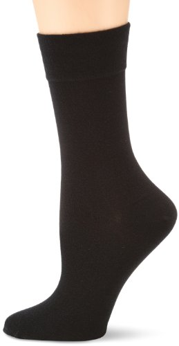 Nur Die Damen Cotton maxx Komfort  Strick Socken,  Blickdicht,  Schwarz (schwarz 940),  35/38,