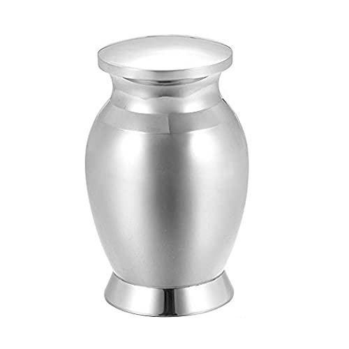 TNBKDSE 25x16mm Engravable Funeral Urn Jewelry High Polished 316L Stainless Steel Memorial Urns for cremation ashes