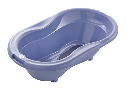 Rotho Babydesign Baignoire TOP, Avec Tapis antidérapant et Bouchon de Vidange, 0-12 mois, Cool Blue (Bleu), 20001 0287
