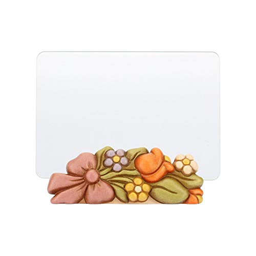 THUN - Portafoto con Fiori - Accessori per la Casa - Idea Regalo - Linea Country - Ceramica e Vetro - 14,2 X 7,2 X 4,7 cm