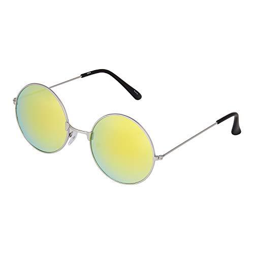 Ultra Grande Marco Plateado Lentes Dorados Gafas de Sol Hombre Mujeres Retro Redondas Adulto Estilo Pequeñas John Lennon Gafas de Sol Mujer Gafas Sol Hombre Espejo Redondo Gafas Sol Clásicos UV400