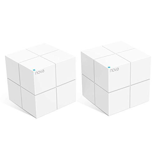 Tenda Nova MW6 WiFi Mesh, Dual Band AC1200, 2 Porte Ethernet Gigabit, Modalità Router e Access Point, Parental Control, 2 Pezzi con Copertura Fino a 350㎡