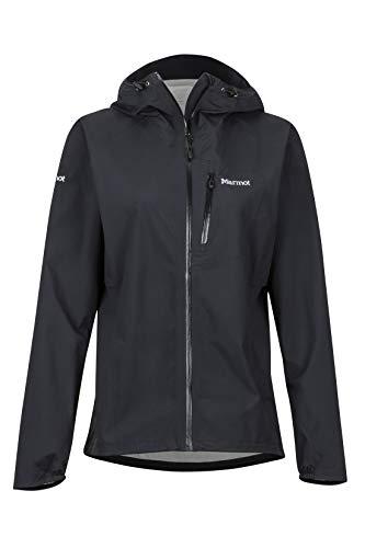Marmot Damen Essence Jacket Hardshell Regenjacke, Schwarz (Black), L