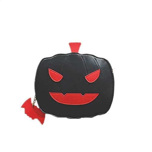 Fusanadarn Halloween Party Tasche Kürbis Tasche Candy Bag niedliche Tote Satchel Schulter Crossbody Handtasche Clutch Geldbörsen for Kinder Frauen (Color : Black)