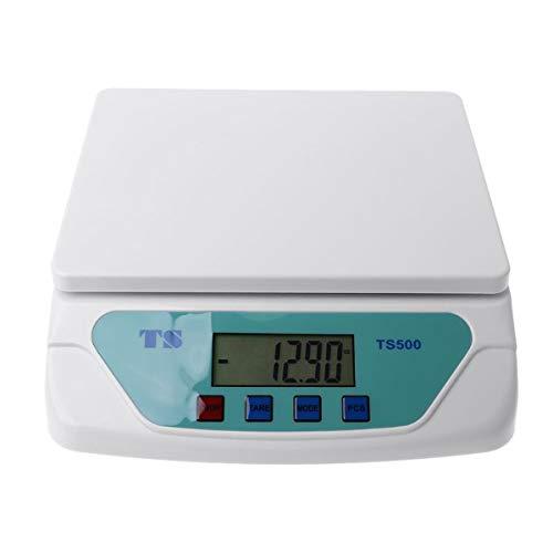 ZCY ES1008 Elektronische weegschaal, 25 kg, 30 kg, weegschaal, keukenweegschaal, met LCD-scherm, voor het gebruik thuis, kantoor, warenhuis, laboratorium, industrie