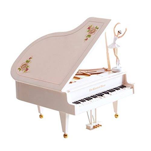 SDFGSG Drehendes Spieluhrkindermädchenpaargeburtstags-Feriengeschenk des Klavierspieluhr-Tanzballettmädchens Dekoration