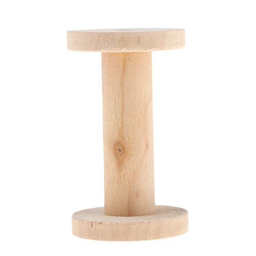 non-brand Holzspulen, groß, unlackiert, 4,4 x 8,3 cm