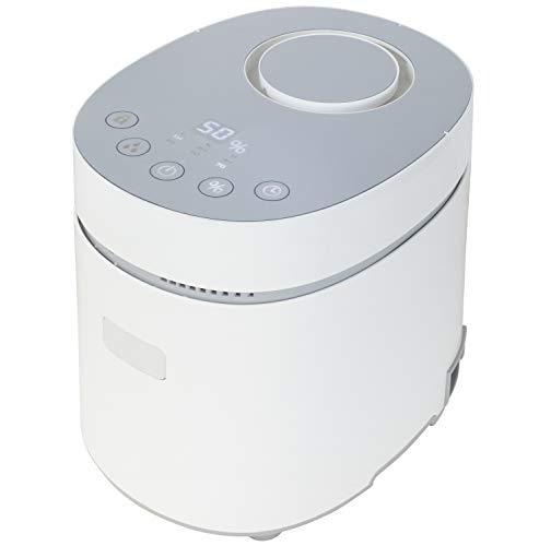 [山善] スチームファン式 加熱式 加湿器 上部給水式 (湿度センサー搭載) (最大加湿 600ml) (タンク容量 3.0L) (木造約10畳/プレハブ洋室約17畳) (タイマー 最大4時間) (チャイルドロック) (着脱式タンク) (メモリー機能) ホワイト KSF-L302(W) [メーカー保証1年]