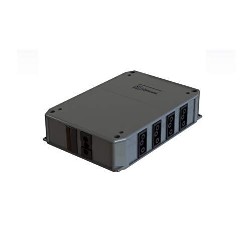 Repartidor de 1 entrada y 5 salidas con conectores CR de 3 polos, para cable 3x4 milímetros, para suelo o techo, acabado gris grafito, 13 x 19 x 4,5 centímetros (referencia: CR154)