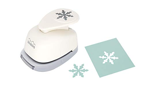 Bira 1 inch Snowflake 5 Shape, Christams Punch, Lever Action Craft Punch for Paper Crafting Scrapbooking Cards Arts