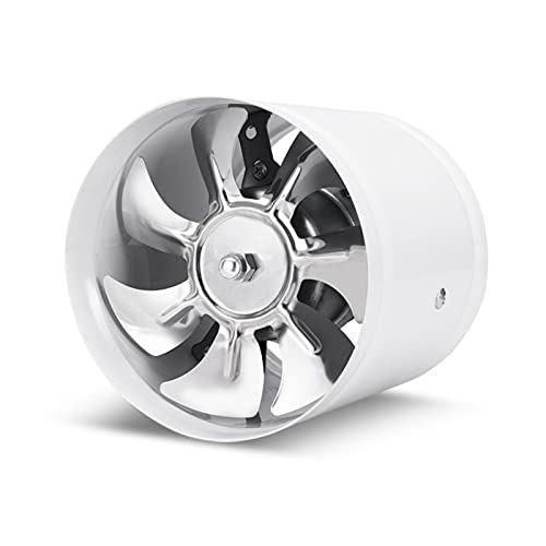 Ventilador extractor Ventilador de conducto en línea de 8 pulgadas, 50 0CFM, Cocina Potente humo de aceite Ventilador Ventilador de ventilación Tipo de ventana Fan de escape con 7 cuchillas Ventilador