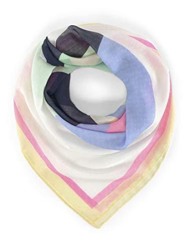 TOM TAILOR DENIM Damen Accessoire Tuch mit abstrahiertem Print Off White,ONESIZE