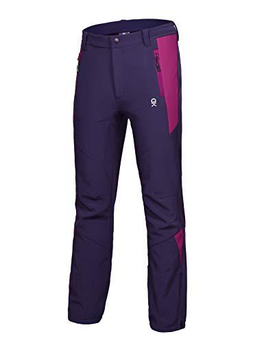 Little Donkey Andy Women's Winter Hiking Ski Snowboarding Pants Softshell Pants Purple Size XS