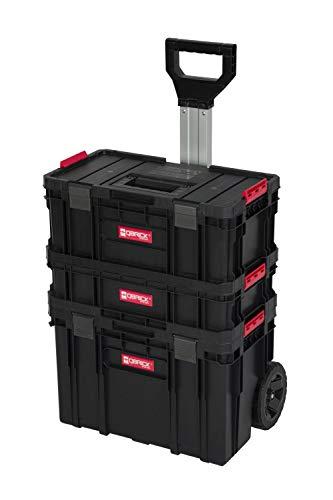 """XL Werkzeugtrolley, Werkstattkoffer Set, Werkstattwagen Set aus""""Q-Brick"""" Serie mit viel Zubehör! B x T x H in cm: 53 x 38 x 98 cm ! Der mobile Alleskönner - Privat & Gewerbe (Set 3)"""