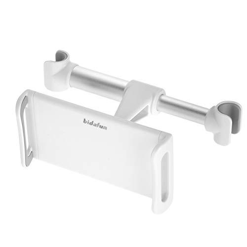 bidafun Car headrest tablet holder card holder, car rear seat headrest holder, for all 4'-12.7 inch smartphones and tablets - white