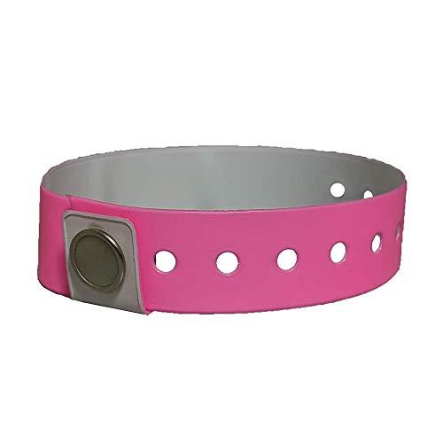 Aquamentor Reusable Vinyl Wristbands (Pink, 50/pack)