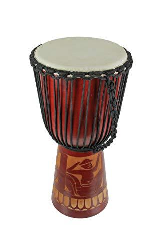 24en. Madera de caoba acabado madera tallado círculo tambor Djembe