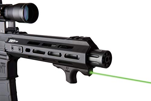 Viridian HS1 AR Style Semiautomatic Rifle Stock Green Laser Sight Hand Stop with Up to 2 Mile Range and Lithium Battery