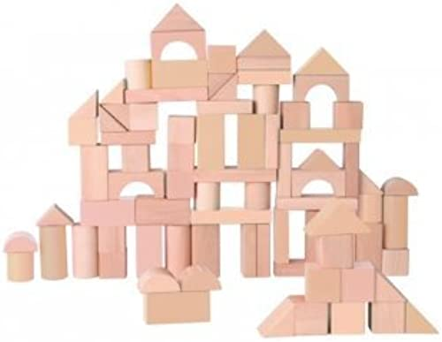 EverEarth Natural Wood Blocks, 80 Pieces by Maxim