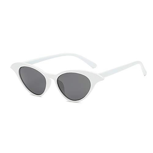 MDKCDUBP Gafas De Sol Unisex Diseño De Moda Gafas De Sol Platic Frame Vintage Sunglass Blanco Negro para Actividades Aire Libre
