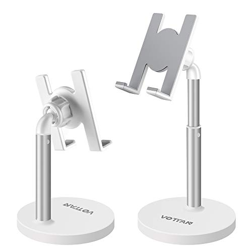 Cell Phone Stand, Adjustable Angle Height Desk Phone Dock Cellphone Holder for iPhone SE / 11 / 11 Pro/XS Max/XR/12/12 Pro, Samsung Galaxy S20 / S10 / S9 / S8, Other Phones (3.5-10 Inch)