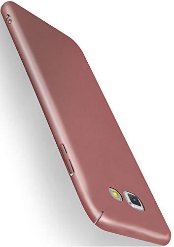 MoEx® Alpha Case kompatibel mit Samsung Galaxy A3 (2016) Hülle Dünn | Ultra-Slim Handyhülle - Metallic Schutzhülle Handy Cover, Matt Rosé-Gold