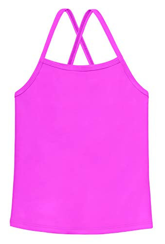 Rash Guard for Beach and Pool City Threads Girls Flounce Bikini Top Active Wear UPF50