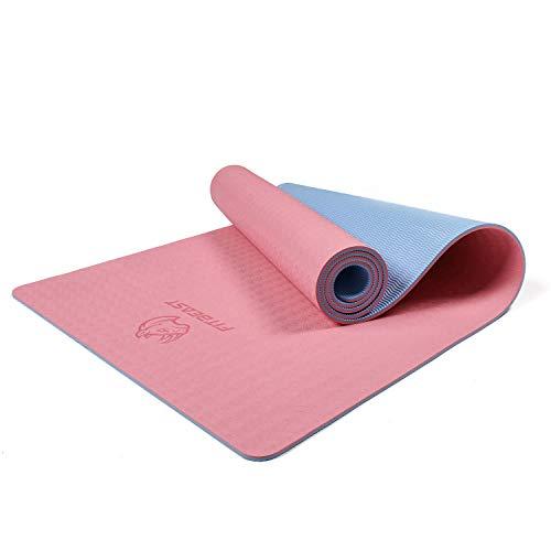 Yoga Übungsmatte 170 x 61 cm grau Yogamatte Matte Pilates Fitness Aerobic Sport