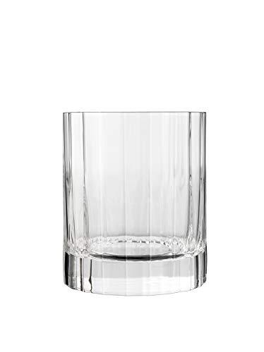 7540471 Luigi Bormioli Bach-Set di 6 Bicchieri Bassi, in Cristallo Trasparente, 8,25 x 8,25 x 9,7 cm