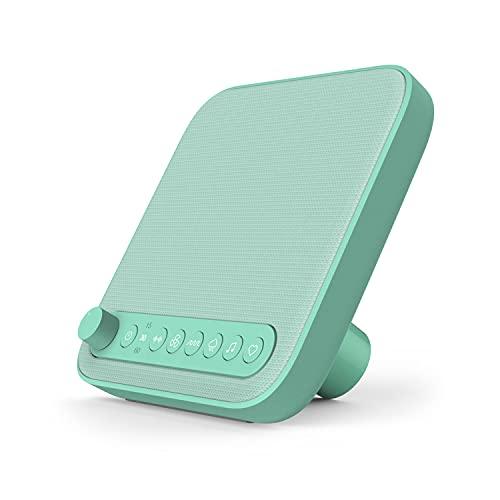 Pure Enrichment® Wave™ Baby Soothing Sound Machine - All-Natural Sounds Include Lullaby, Heartbeat, White Noise, Fan, Ocean, and Rain, with Auto-Off Timer & USB Charger - Patented Design (Mint Green)