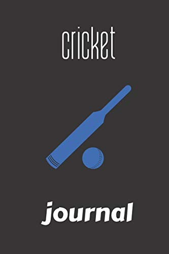 cricket journal: small lined Cricket Notebook / Travel Journal to write in (6'' x 9'') 120 pages