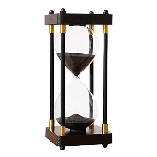 Temporizador de reloj de arena 30 minutos Configuración de temporizador de madera, utilizado para la cocina Sala de estar Home Office Desk Dormitorio Dormitorio Fiesta de vacaciones Mesa de centro Boo