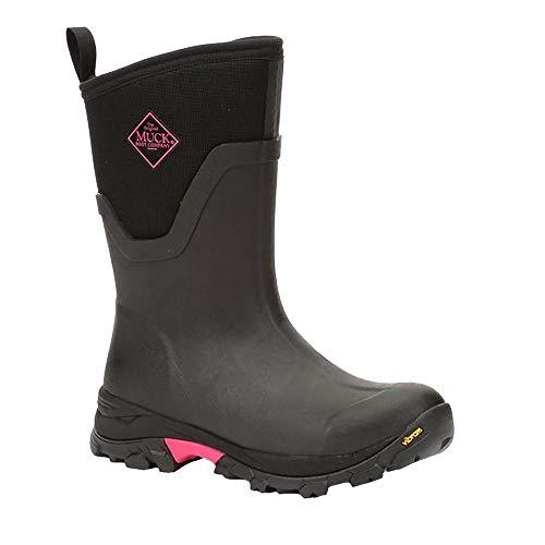 Muck Boots Damen Arctic Ice Mid Stiefel (38 EU) (Schwarz/Pink)