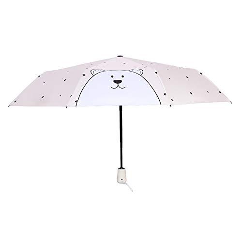Qinlee Automatischer Regenschirm Mini Regenschirme Frische Sonnencreme 8 Falten Sonnenschutz Regenschirm Innovative Ultraleicht Tasche Falten Schwarzer Regenschirm der Männer
