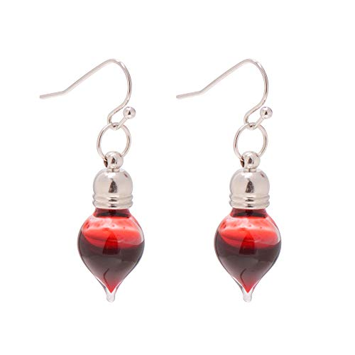 Paialco Jewelry Vampire Blood Vial Drop Earrings for Halloween