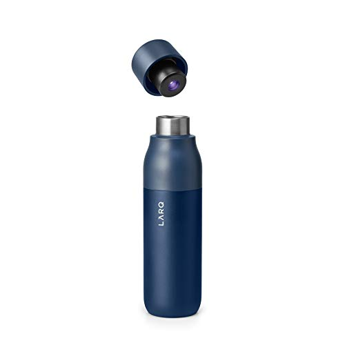 LARQ Bottle - Self-Cleaning and Insulated Stainless Steel Water Bottle with Award-winning Design and UV Water Sanitizer, 17oz, Monaco Blue