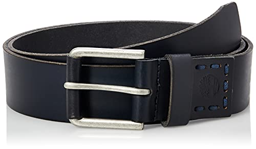 Timberland Men's Casual Leather Belt, Navy Blue, 34