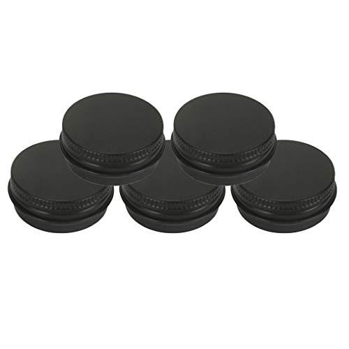 chiwanji Pots en Aluminium, Conteneurs Cosmétiques Rondes pour Bricolage - 15ml