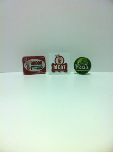 MEAT MANIAC Novelty Candy Combo Gift Pack with Sticker- Bacon Gumballs & Pickle Mints