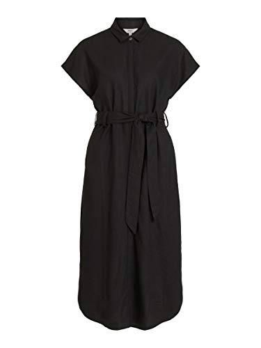 Object Damen Blusenkleid Kurzärmeliges 38Black