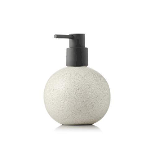 ZANZAN Dispensador de jabón de cerámica esférica dispensador de jabón grande bomba de jabón, 520 ml/18 onzas dispensador de ducha para el hotel Home-7 colores (color: beige)