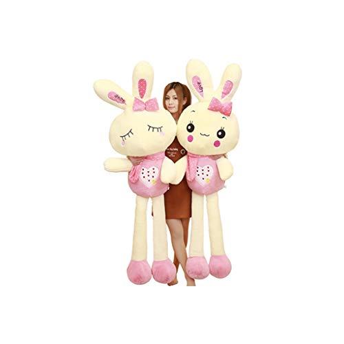 HUOQILIN Rabbit knuffel pop klein konijn schattige pop kussen te slapen verjaardagscadeau (Color : 2, Size : 100cm)