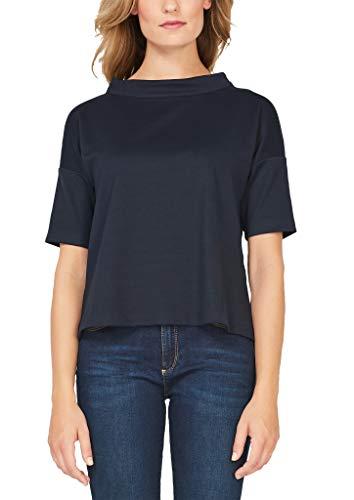 s.Oliver BLACK LABEL Damen Jerseyshirt mit Stehkragen dark navy 38