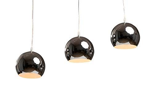 anTes interieur Hängeleuchte Balls lang chrom mit 3 x LED-Leuchtmittel (mehrflammig Pendelleuchte Hängelampe Deckenlampe Pendellampe Deckenleuchte)