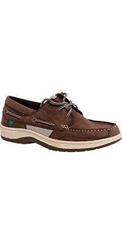 GUL Falmouth, Botes de Cuero para Botes de Vela - Zapatos de Cubierta Zapato Tan - Transpirable - Sistema de Cordones Funcional
